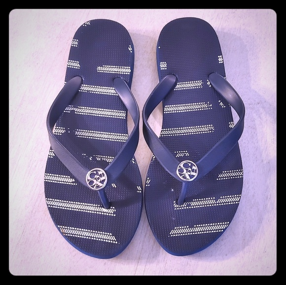 Coach Shoes - Coach Flip Flops | Navy & White